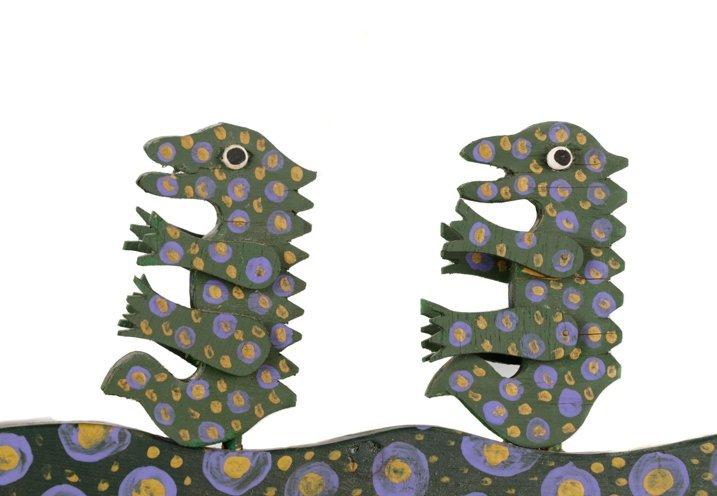 """Tubby Brown, """"Untitled (Mama Gator)"""", Folk Art - 3"""