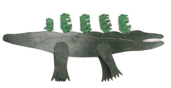 """Tubby Brown, """"Untitled (Mama Gator)"""", Folk Art - 6"""
