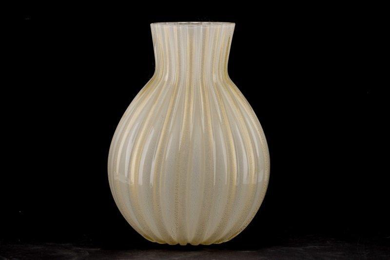 Barovier & Toso Gold Aventurine Vase, Signed - 3