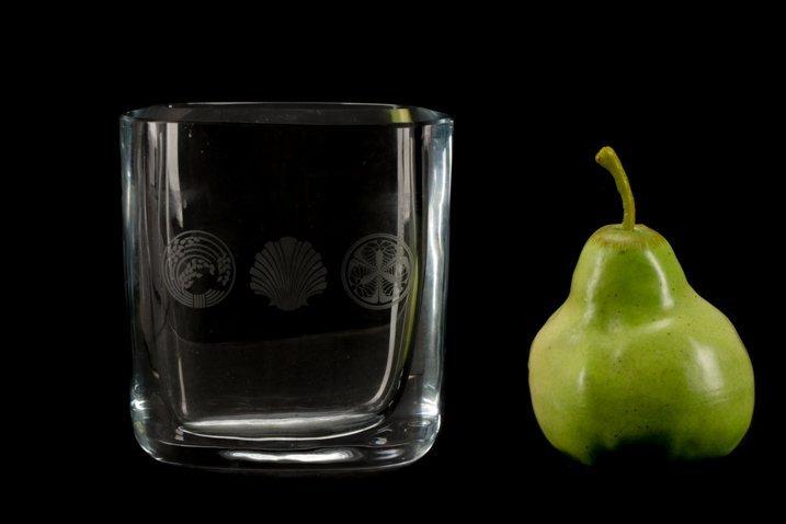 Georg Jensen Etched Crystal Vase, Signed - 5
