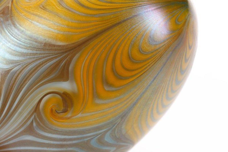 Vandermark Art Glass Pulled Feather Egg, 1974 - 3