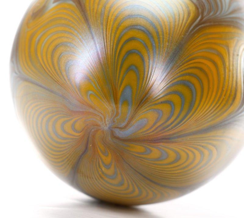 Vandermark Art Glass Pulled Feather Egg, 1974 - 4