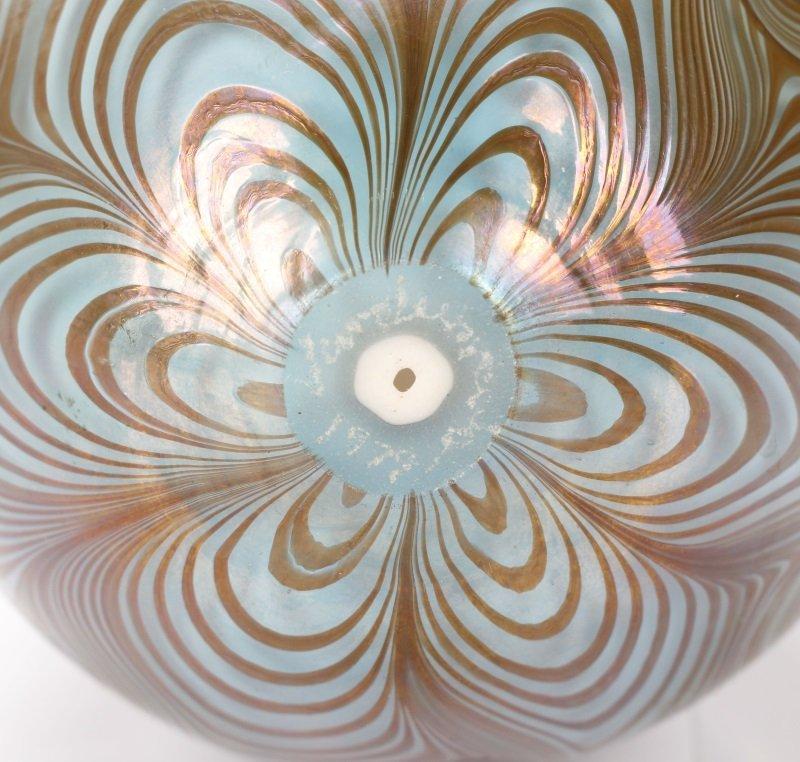 Vandermark Art Glass Pulled Feather Egg, 1974 - 6