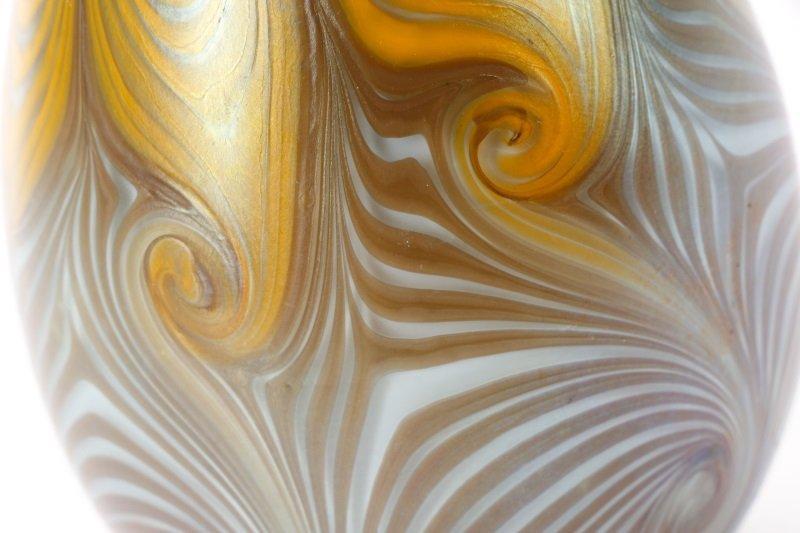 Vandermark Art Glass Pulled Feather Egg, 1974 - 7