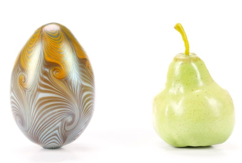 Vandermark Art Glass Pulled Feather Egg, 1974 - 8