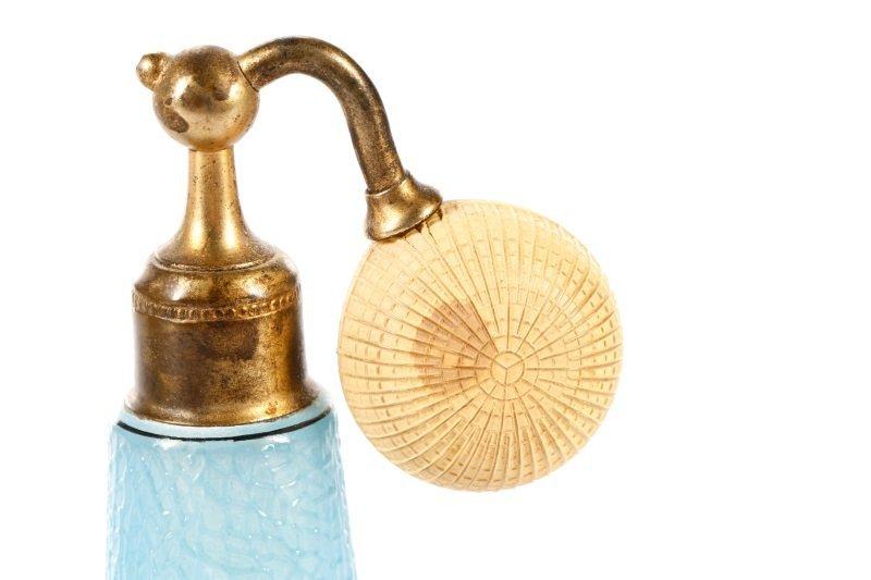 Art Deco Blue Glass Perfumizer & Dropper - 4