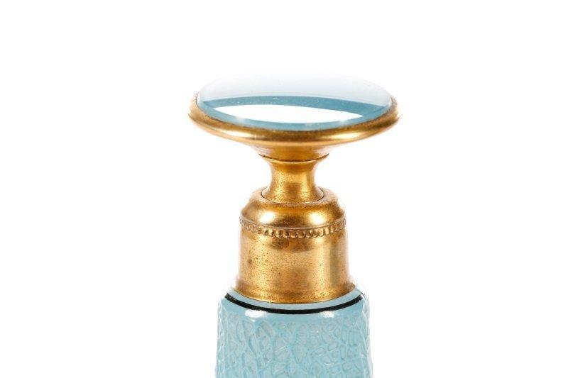 Art Deco Blue Glass Perfumizer & Dropper - 5