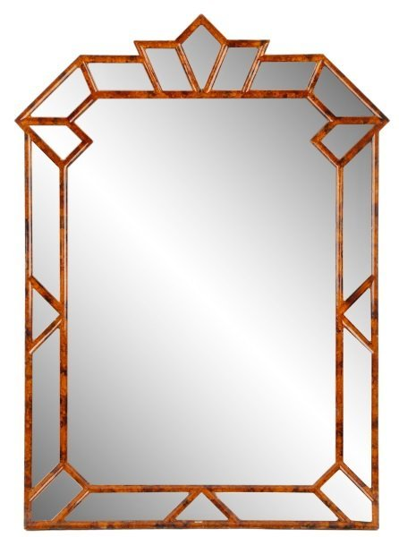 Giovannini Chelini Faux-Tortoiseshell Wood Mirror