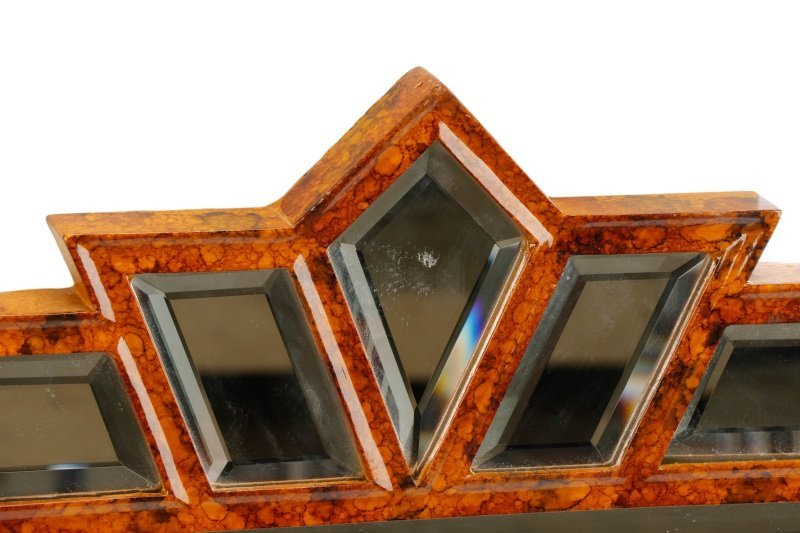 Giovannini Chelini Faux-Tortoiseshell Wood Mirror - 2