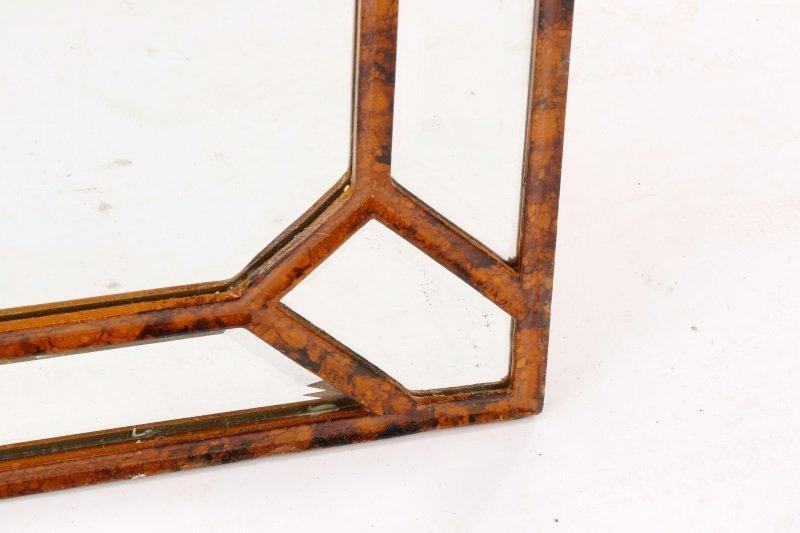 Giovannini Chelini Faux-Tortoiseshell Wood Mirror - 3
