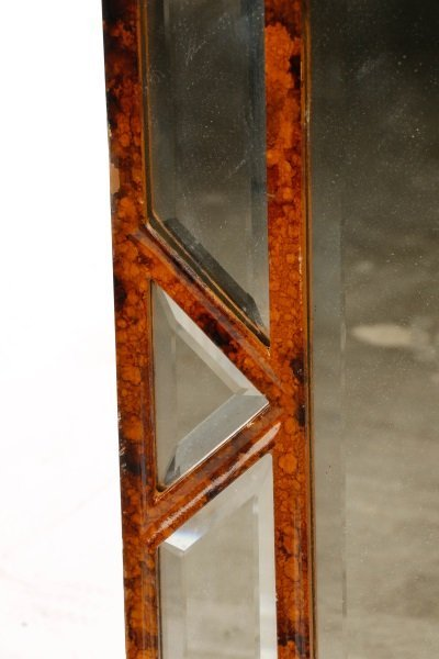 Giovannini Chelini Faux-Tortoiseshell Wood Mirror - 4