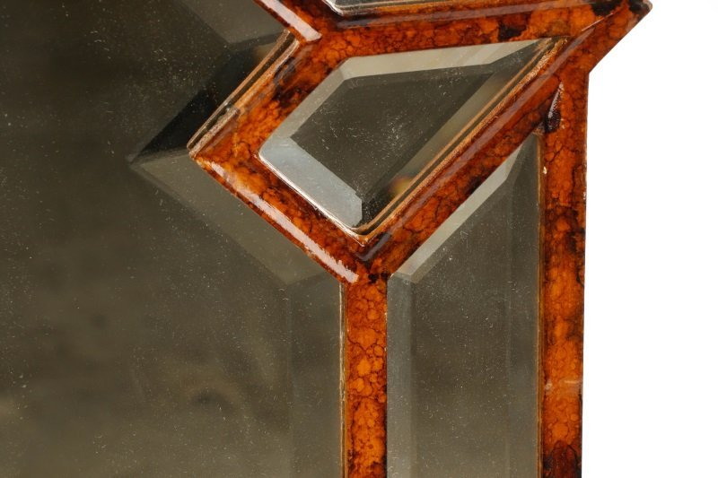 Giovannini Chelini Faux-Tortoiseshell Wood Mirror - 5