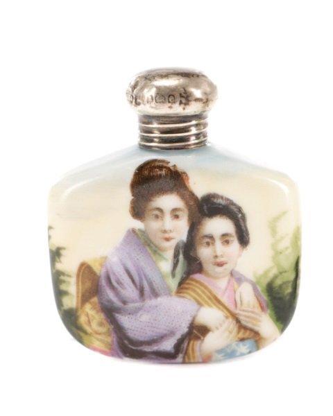 Two Victorian Miniature Porcelain Scent Bottles - 2