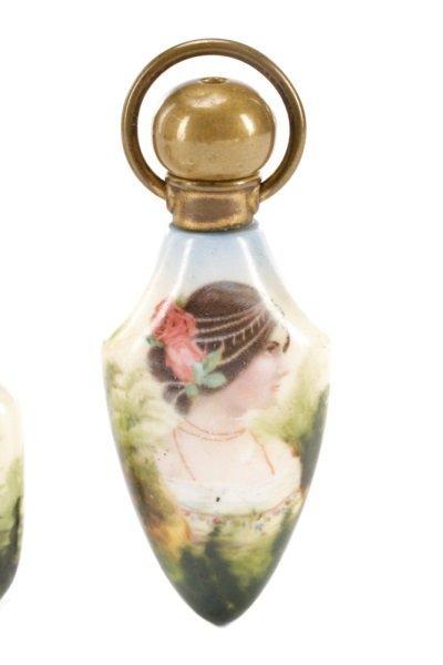 Two Victorian Miniature Porcelain Scent Bottles - 3