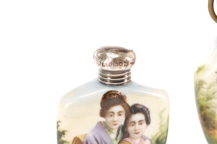 Two Victorian Miniature Porcelain Scent Bottles - 4