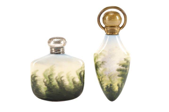 Two Victorian Miniature Porcelain Scent Bottles - 5