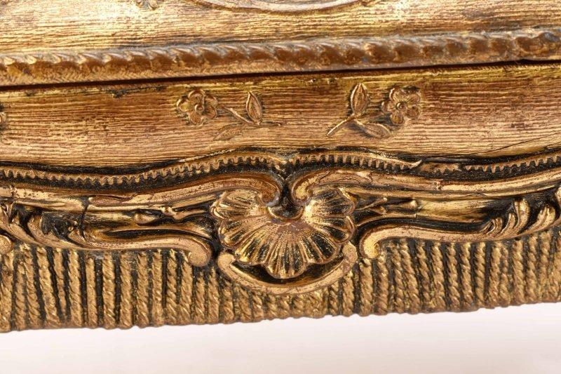 French Gilt Bronze Tabouret Form Jewelry Casket - 6