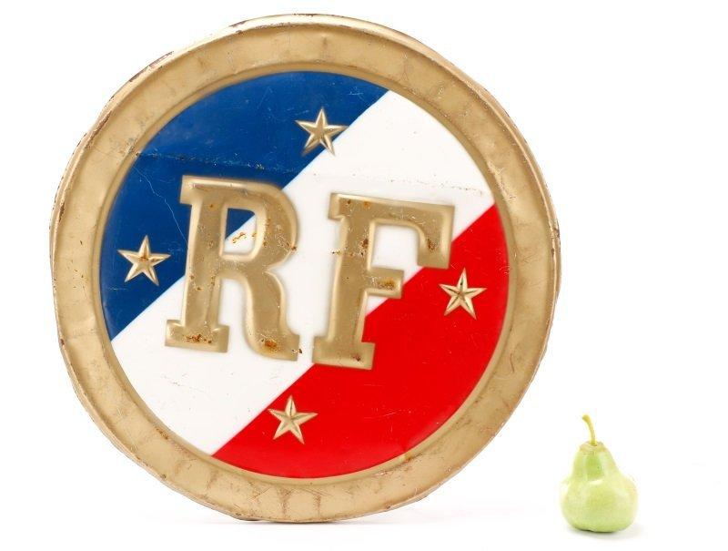 """""""Republic de France"""" Round Metal Medallion - 10"""