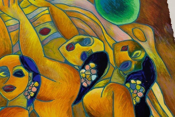 "Jiang Tie Feng, ""Flowering Age"", Serigraph - 3"