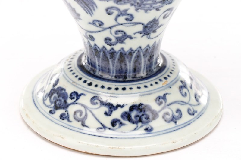 Pair of Unusual Chinese Export B&W Porcelain Vases - 3