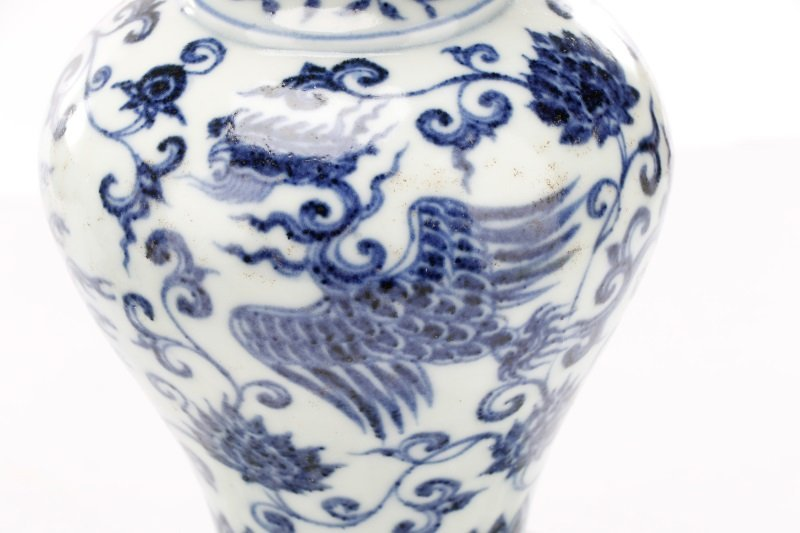 Pair of Unusual Chinese Export B&W Porcelain Vases - 6