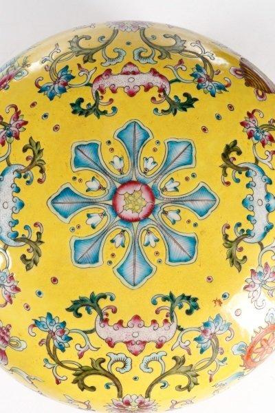 Famille Jaune Ba Jixiang Round Box, Qianlong - 4