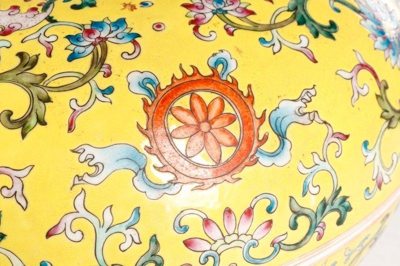 Famille Jaune Ba Jixiang Round Box, Qianlong - 5