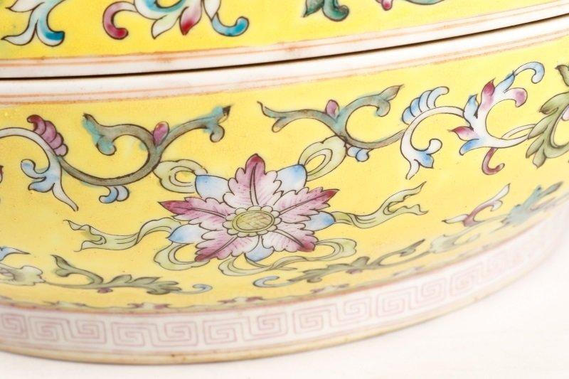 Famille Jaune Ba Jixiang Round Box, Qianlong - 8
