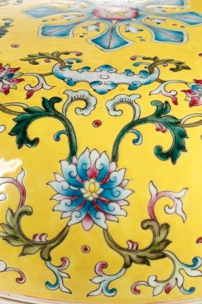 Famille Jaune Ba Jixiang Round Box, Qianlong - 9