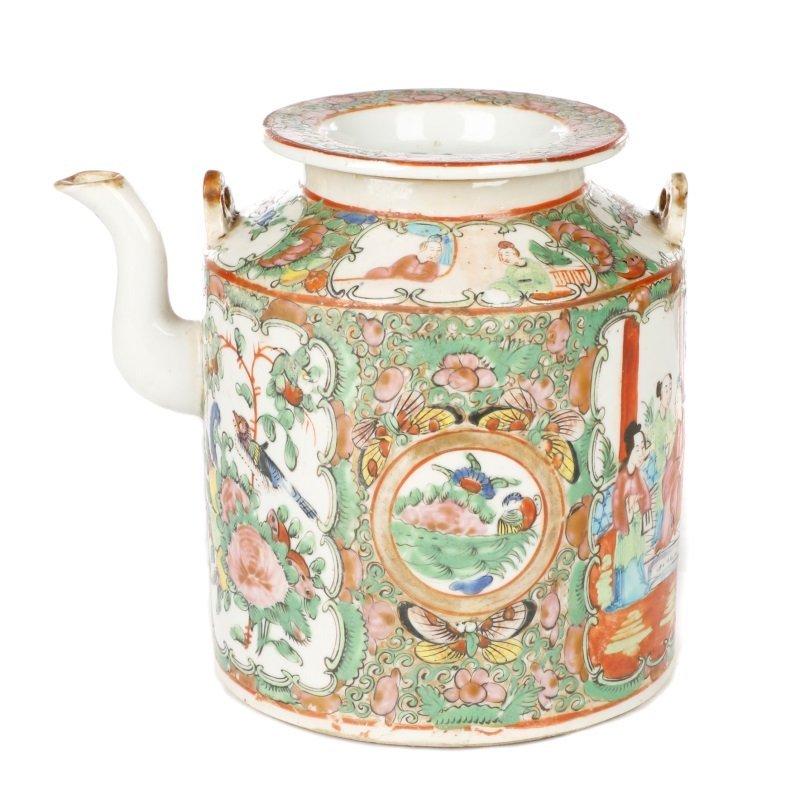 Chinese Export Famille Rose Medallion Teapot