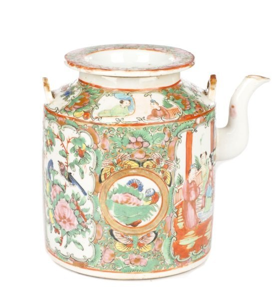 Chinese Export Famille Rose Medallion Teapot - 2