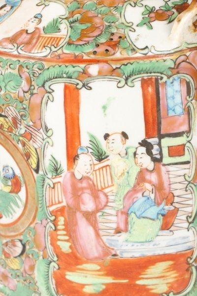 Chinese Export Famille Rose Medallion Teapot - 3
