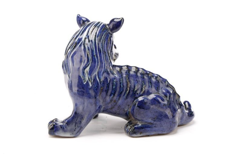 Chinese Cobalt Glazed Pottery Chimera, Xuande Mark - 4