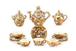 Late Meiji Period Satsuma Earthenware Tea Service