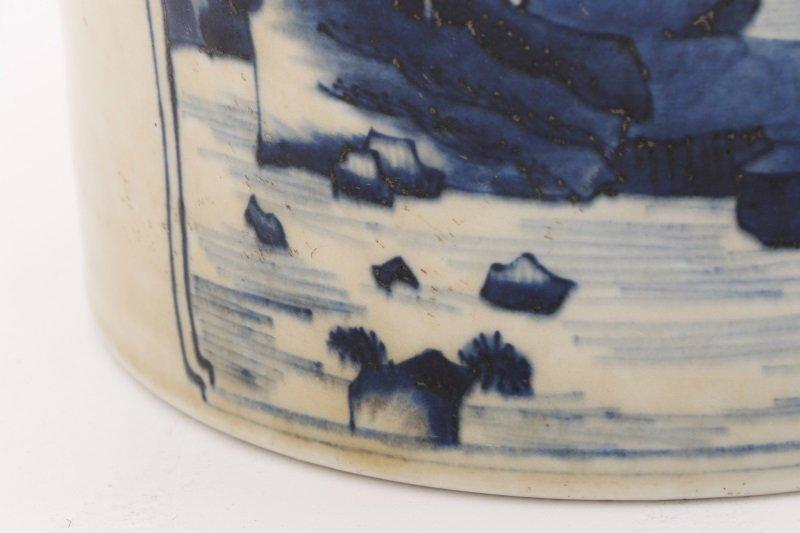 Chinese Brush Pot w/ Landscape Scenes, Kangxi Mark - 5