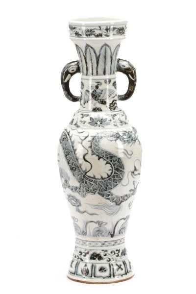 Song Style Porcelain Funerary Urn Dragon Vase