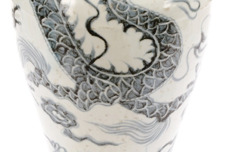 Song Style Porcelain Funerary Urn Dragon Vase - 4