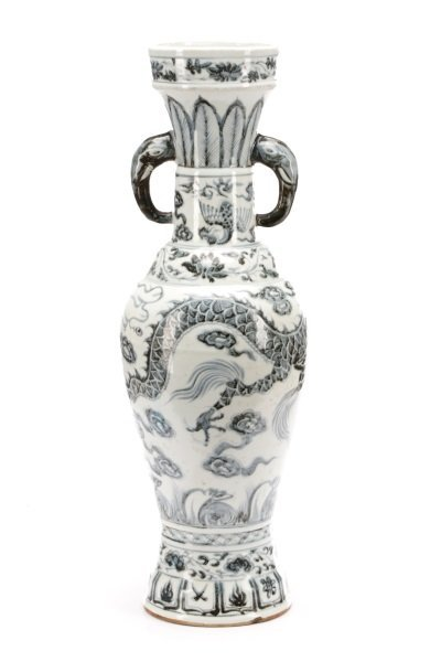 Song Style Porcelain Funerary Urn Dragon Vase - 7