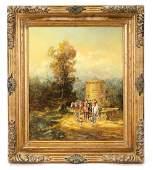 """Herbert Isenberg, """"English Hunting Scene"""", Oil"""