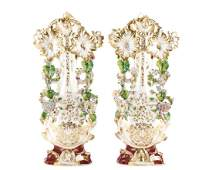 Pair Signed Old Paris Porcelain Vases