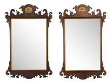 Pair Henkel Harris Co Mahogany Mirrors