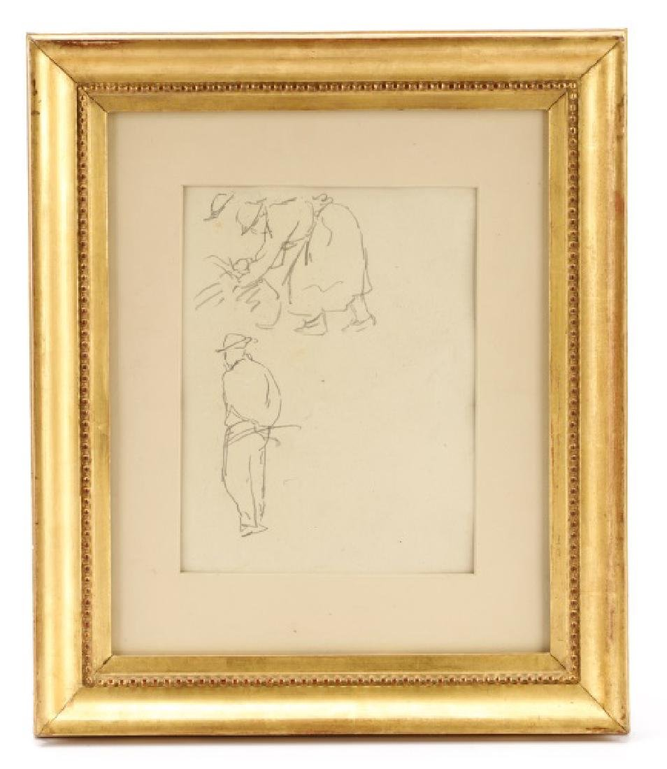 "Camille Pissarro, ""Study of Fieldworkers, Graphite"