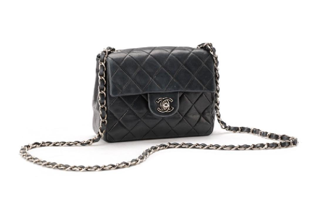 Chanel Navy Quilted Lambskin Mini Classic Flap Bag