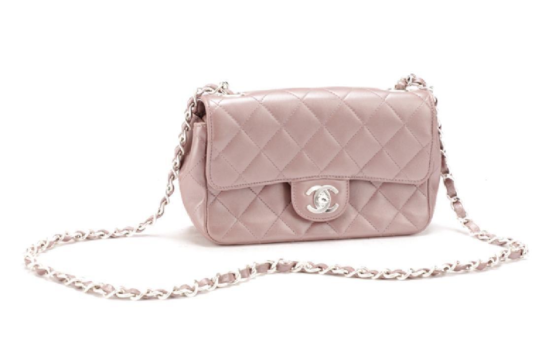 Chanel Mauve Quilted Mini Classic Flap Bag
