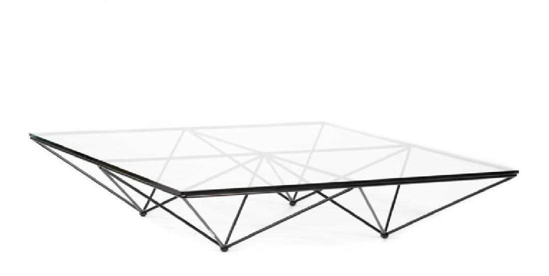 """Paolo Piva """"Alanda"""" Wire & Glass Top Coffee Table"""