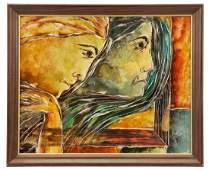 """Calvin Waller Burnett, """"The Fates"""", Oil"""