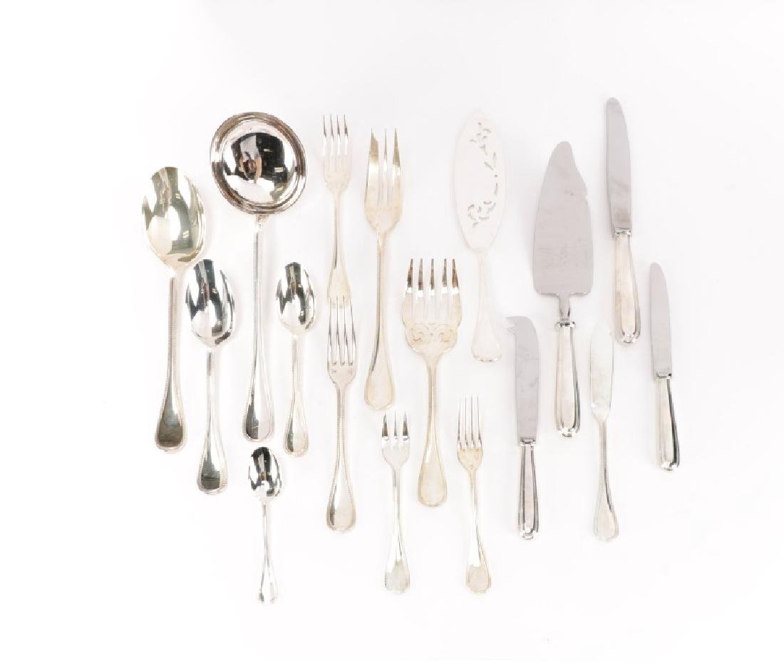 "126pc Christofle ""Perles"" Flatware, Service for 12"