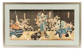 Utagawa Kunisada Ukiyoe Woodblock Print