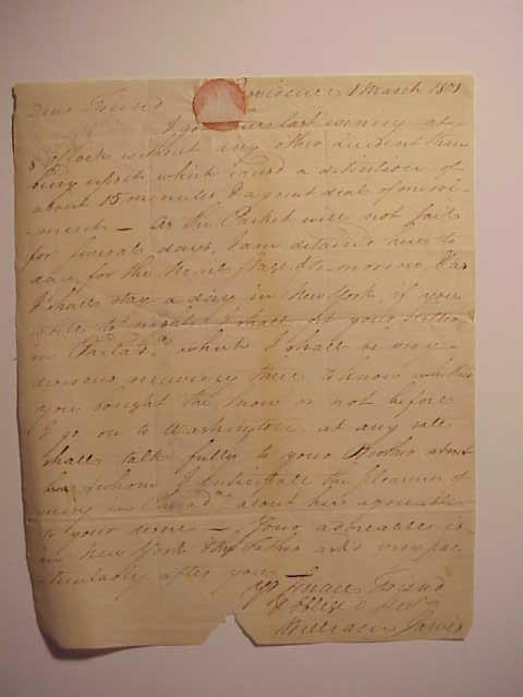 1801 Boston Folded Letter