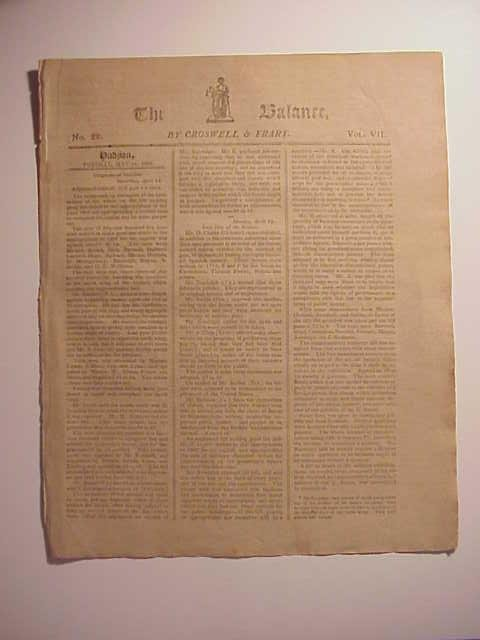 May 31, 1808 The Balance NY Newspaper